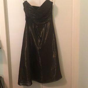 Betsey Johnson gold metallic dress